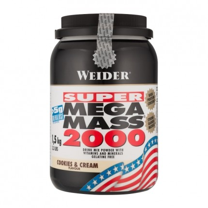 Weider Super Mega Mass 2000 Cookies & Cream Powder