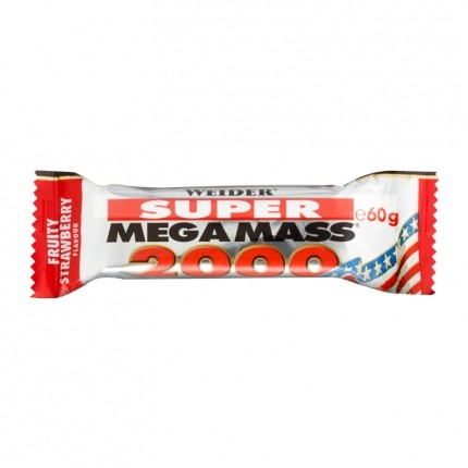 Weider Super Mega Mass 2000 Strawberry Bars