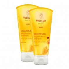 2 x Weleda Baby Calendula Waschlotion & Shampoo