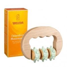 Weleda Calendula Massageöl für empfindliche und zarte Haut + Weleda Massageroller