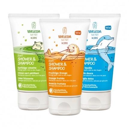 Weleda Kids 2in1 Shower&Shampoo, Probiermix