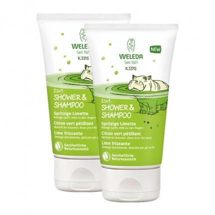 Weleda Kids 2in1 Shower&Shampoo, Spritzige Limette
