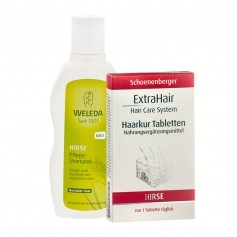Weleda Nährstoff-Haarpflege-Set Hirse für normales Haar