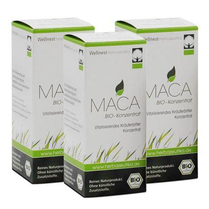 3 x Wellnest Maca Bio Konzentrat, Flüssigkeit