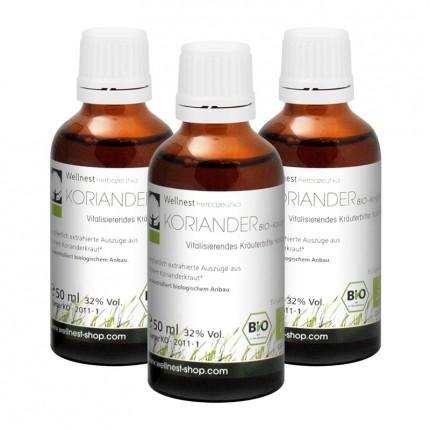 3 x Concentré de Coriandre Bio, Liquide