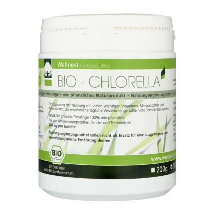 Wellnest Ekologisk Chlorella Vulgaris, tabletter