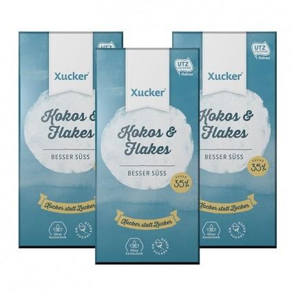 Xucker Weißolade, Crunchy Coconux, Tafelschokolade