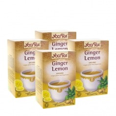 Yogi Tea, Gingembre citron, sachets, lot de 2