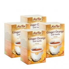 Yogi Tea, Gingembre orange et vanille, sachets, lot de 2