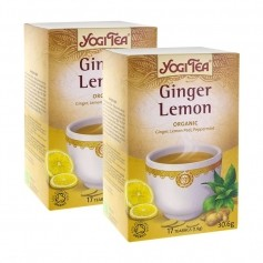 2x Yogi Tea Ginger Lemon, filterpåsar