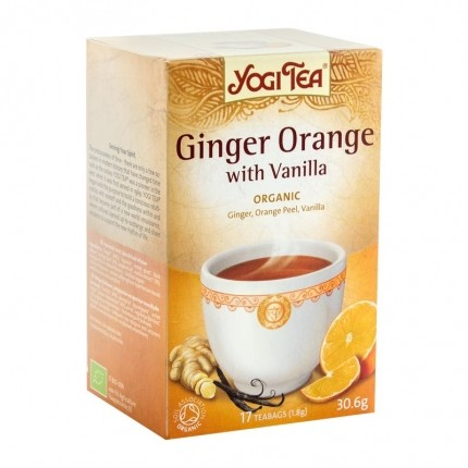 2 x Yogi Tea Ginger Orange with Vanilla