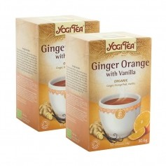 2x Yogi Tea Ginger Orange with Vanilla, filterpåsar