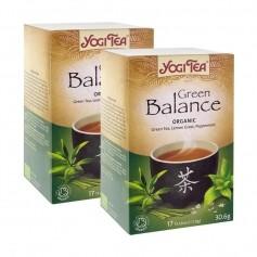 2x Yogi Tea Green Balance, filterpåsar