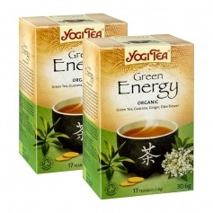 2x Yogi Tea Green Energy, filterpåsar