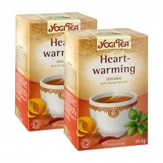 2x Yogi Tea Heartwarming, filterpåsar