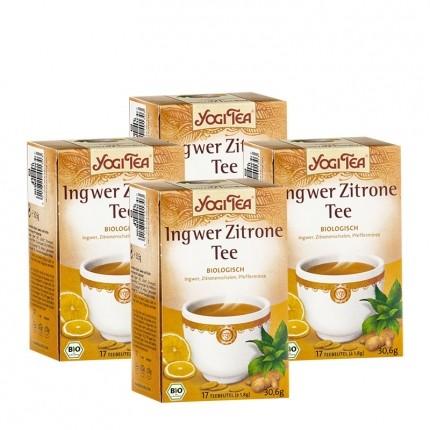 Yogi Tea Ingwer Zitrone Bio, Filterbeutel Doppelpack