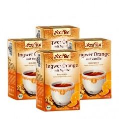 Yogi Tea Ingwer Orange mit Vanille, Filterbeutel Doppelpack