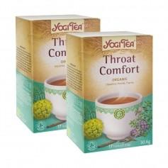 2x Yogi Tea Throat Comfort, filterpåsar