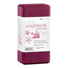 Yogistar Yogablock Basic Hartschaum bordeaux