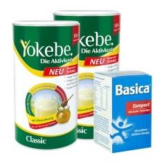 Yokebe Aktiv Paket: Doppelpack Aktivkost + Basica Compact