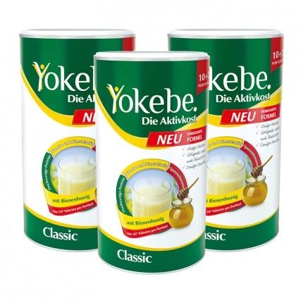 3 x Yokebe Aktivkost Classic, Pulver