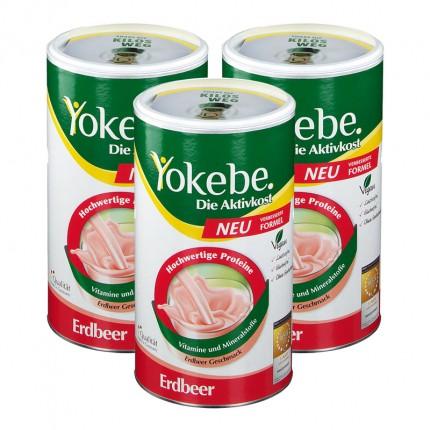 Yokebe Aktivkost Erdbeer, Pulver