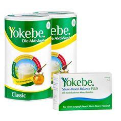 Yokebe Ausgleich-Paket: Doppelpack Aktivkost + Säure-Basen-Balance