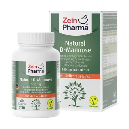 Natural D-Mannose 500 mg (60 Kapseln)