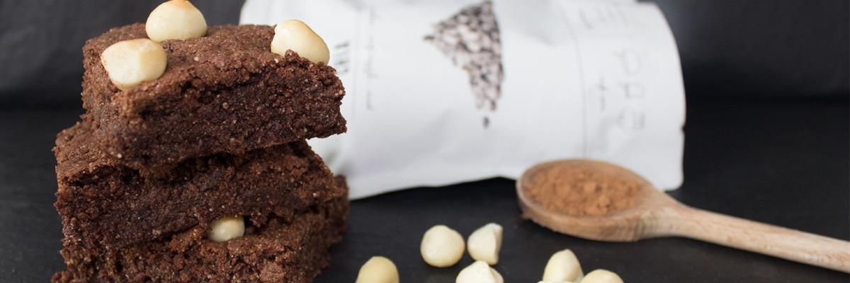 Brownie vegani con semi di chia