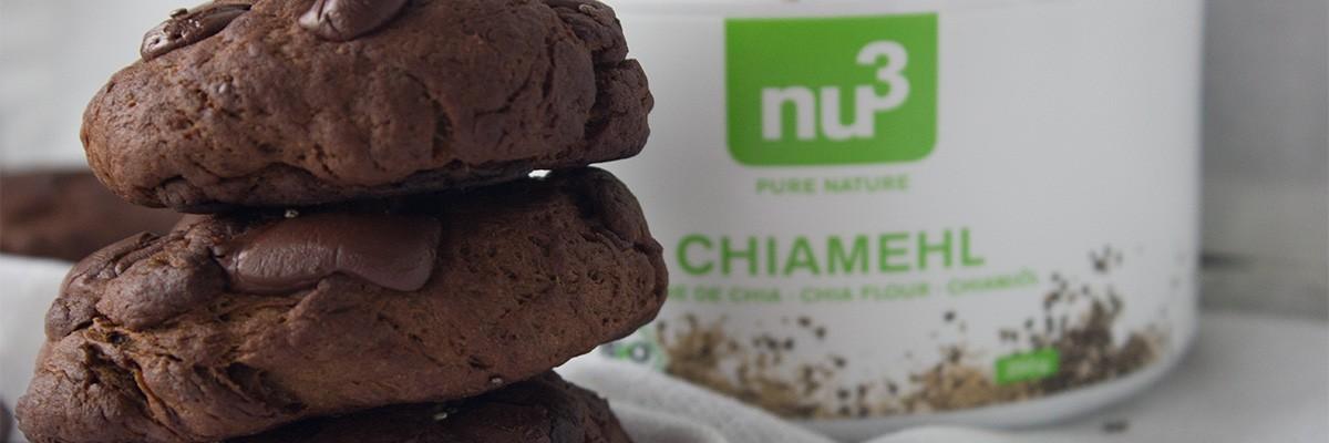 Cookies protéinés : chocolat & farine de graines de chia