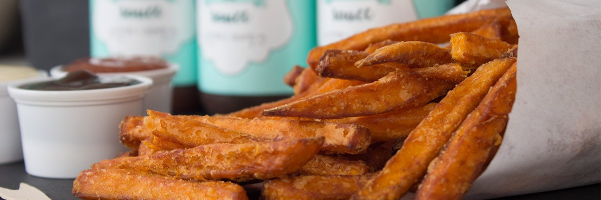Frites de patate douce sauce low carb