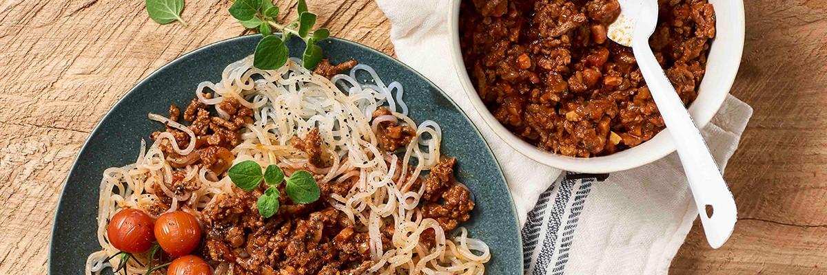 Spaghetti alla bolognese - low carb