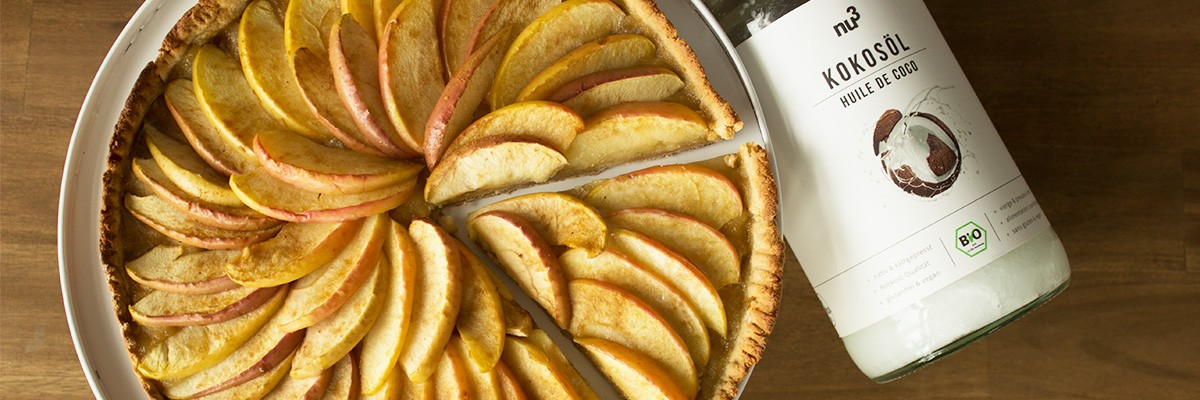 Tarte aux pommes sans beurre ni sucre