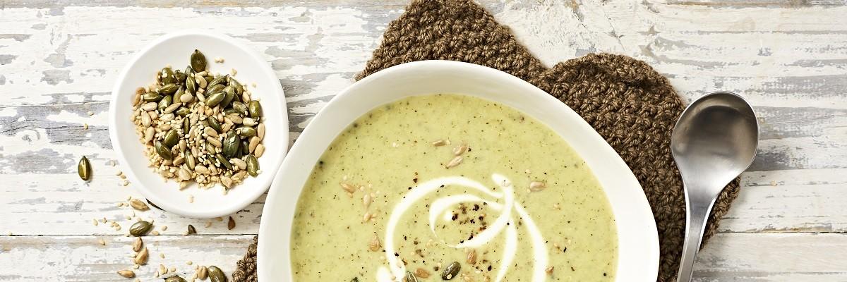 Soupe de quinoa au brocoli