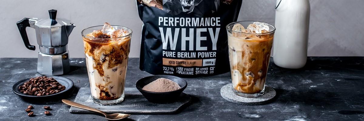 Iced coffee whey latte - caffè freddo proteico