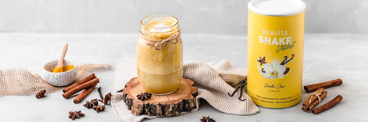 Kurkuma Shake – Chai Latte Vanille