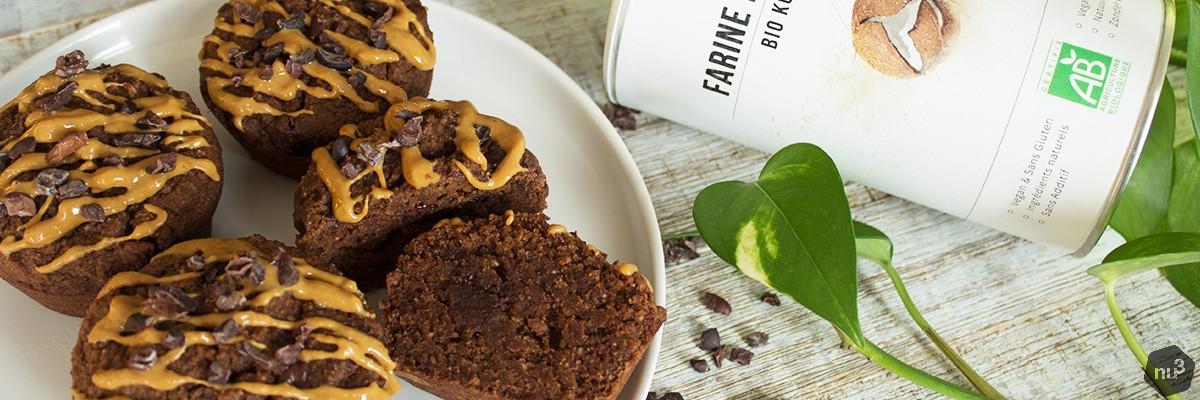 Muffin al cocco e cioccolato senza zucchero