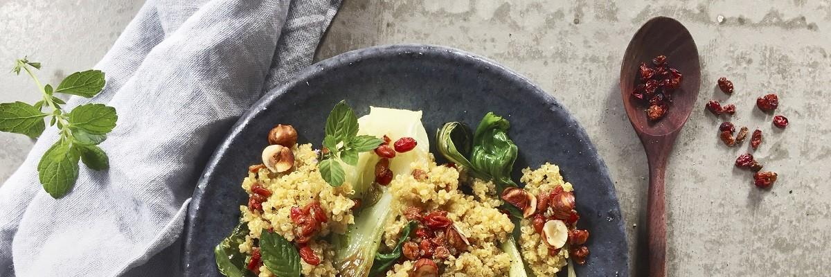 Orientalischer Quinoa mit Berberitzen
