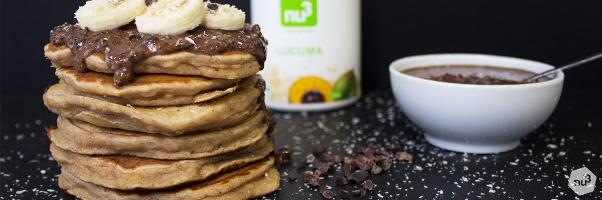 Pancakes vegan au lucuma