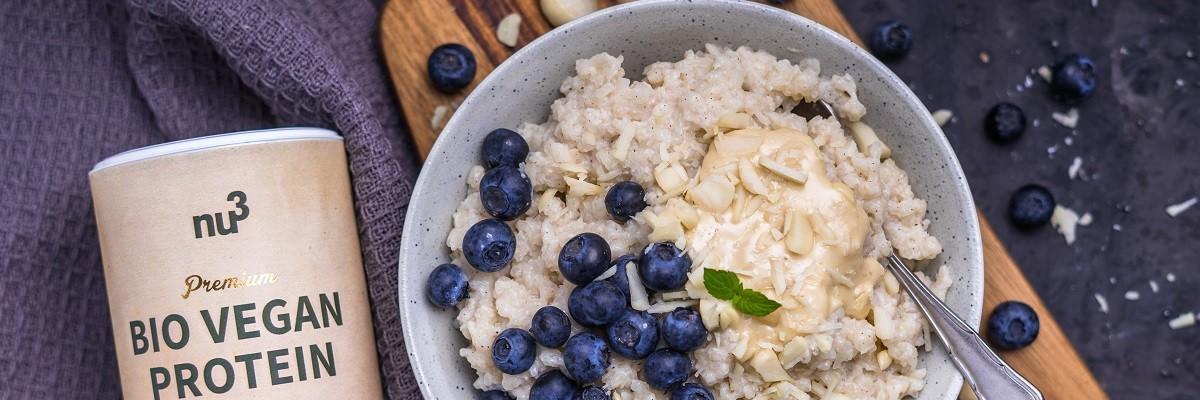 Protein-Milchreis ohne Zucker und ohne Milch