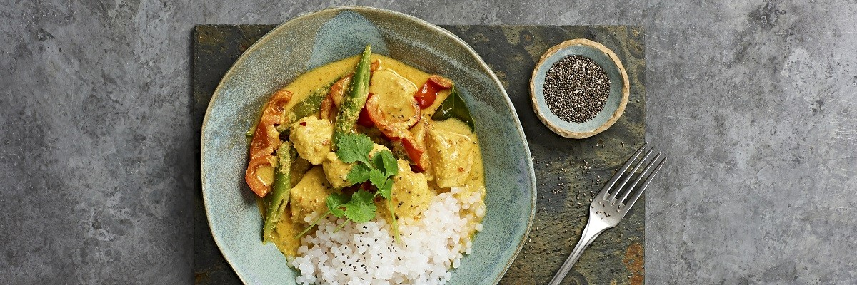 Red Chicken Curry mit Konjak-Reis