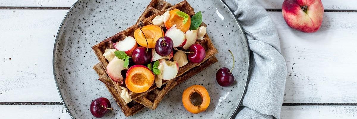 Glutenfreies Schlemmerfrühstück - Teff-Waffeln!