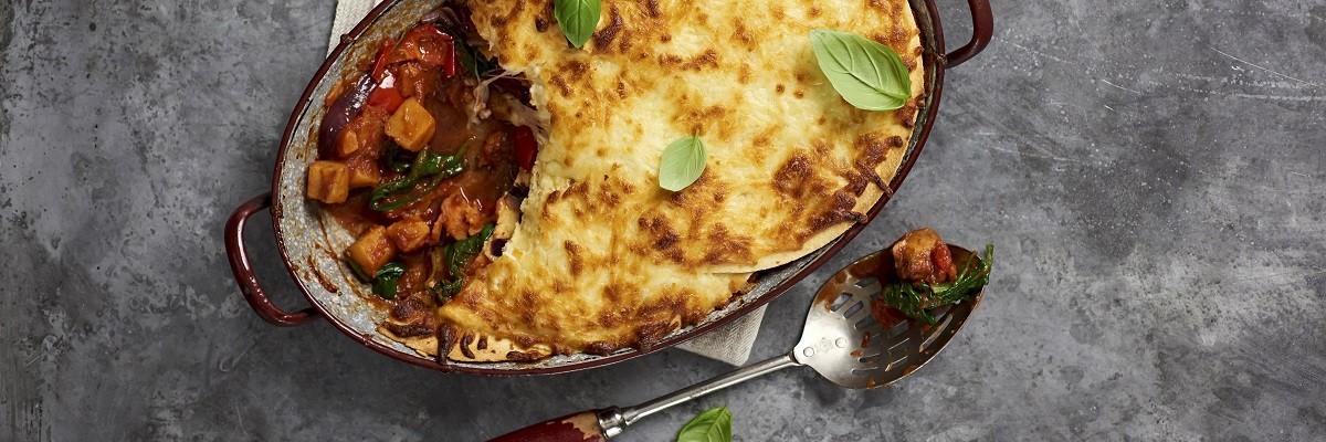 Lasagne au butternut sur tortilla