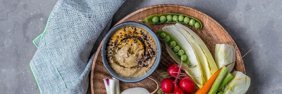 Hummus Rezept mit Kurkuma und Acai