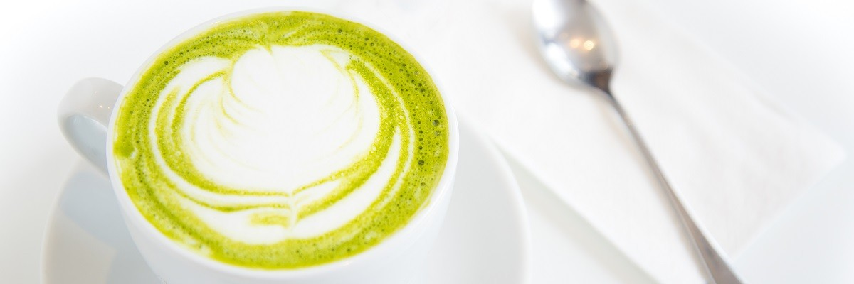 Veganer Matcha Latte