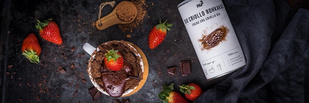 Mugcake au chocolat sans oeuf
