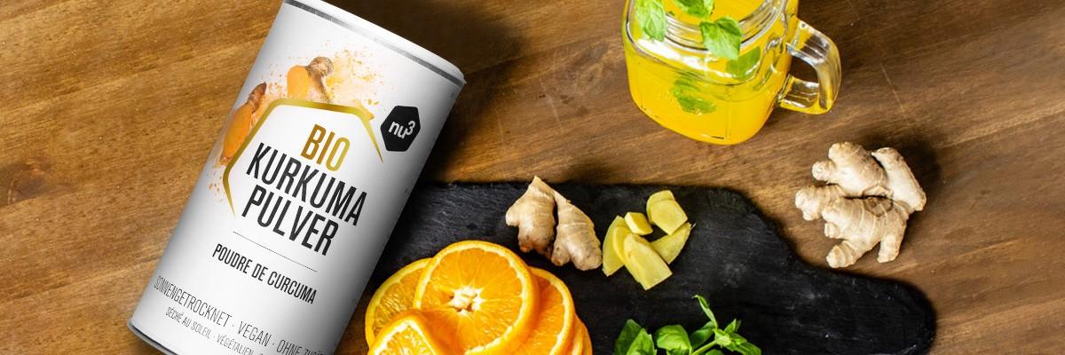 Kurkuma Tee - Rezept mit Ingwer und Orange
