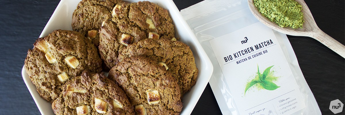 Cookies matcha - chocolat blanc