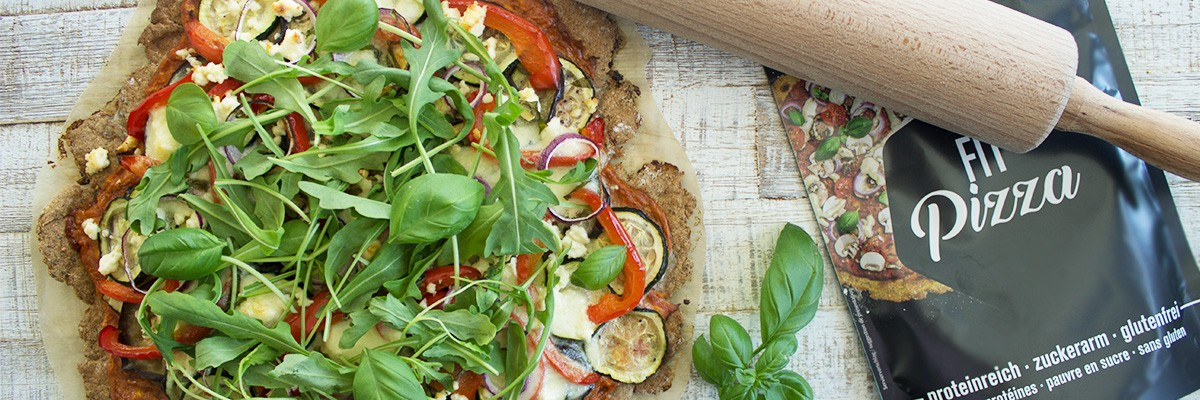 Fit pizza low carb con verdure