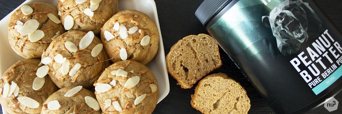 Muffins banane-beurre de cacahuète
